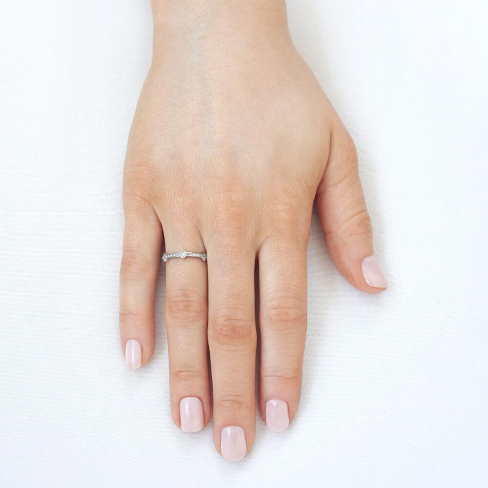 Cube Ring Silver