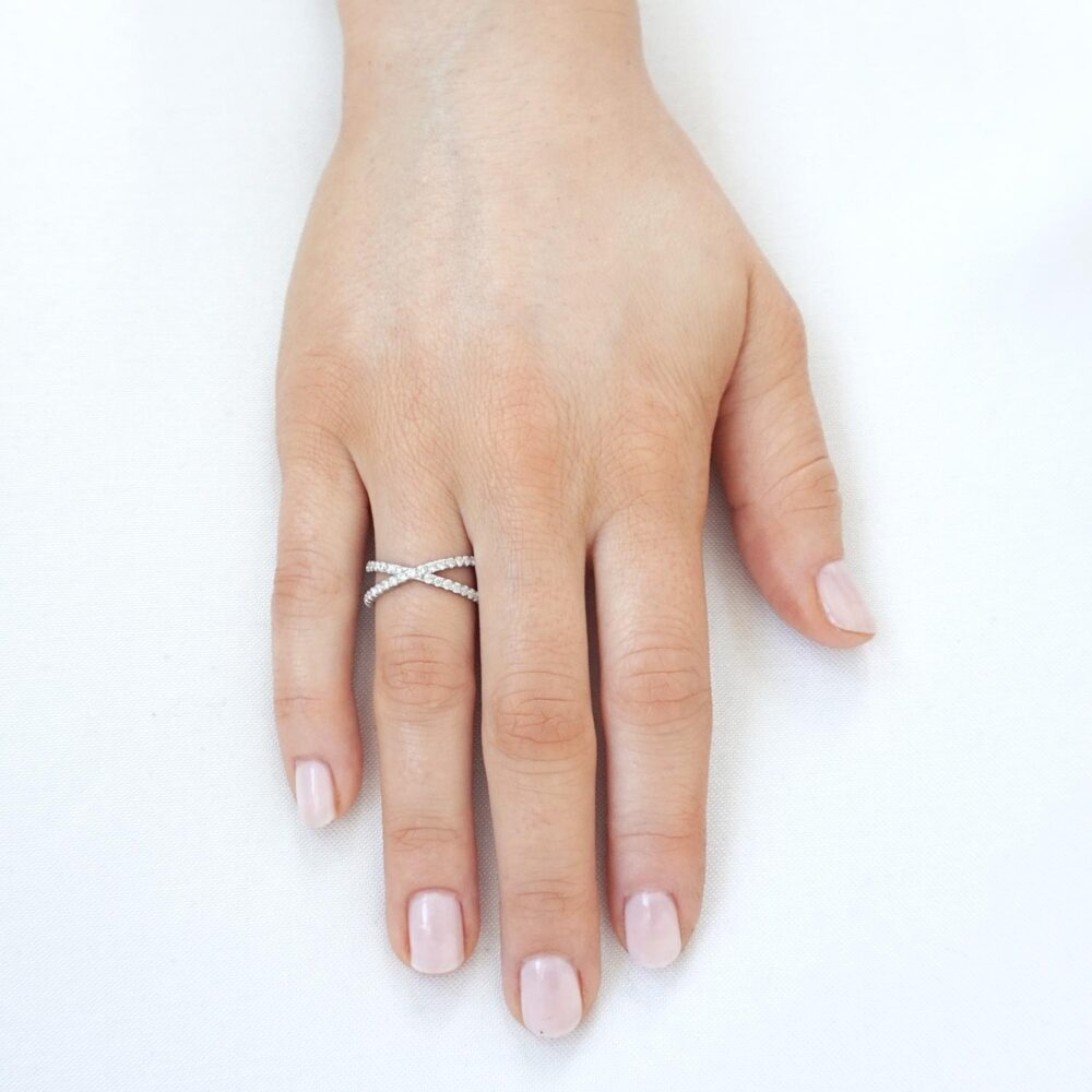 Maria Sparkling Ring Silver