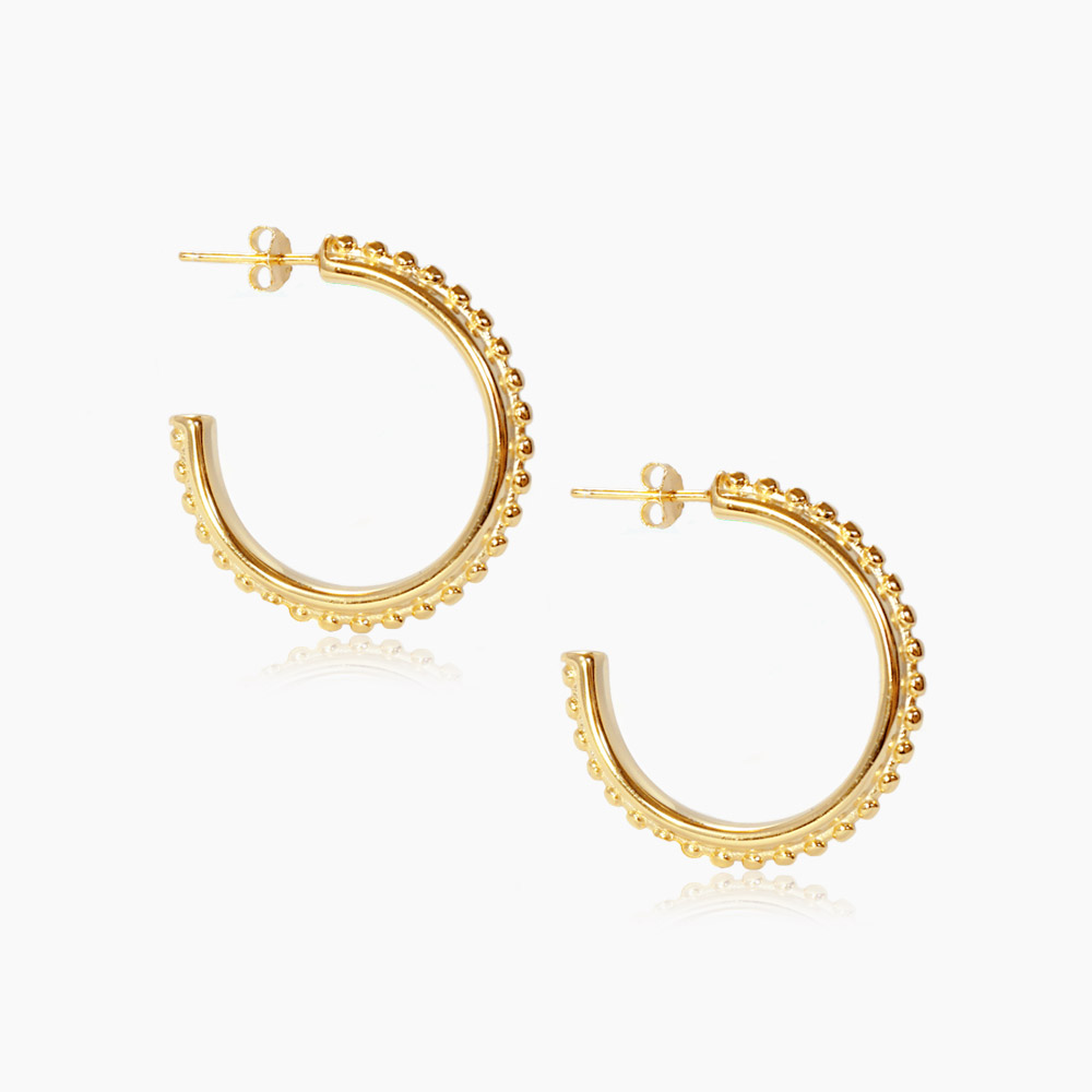 Lidia Earrings Guld