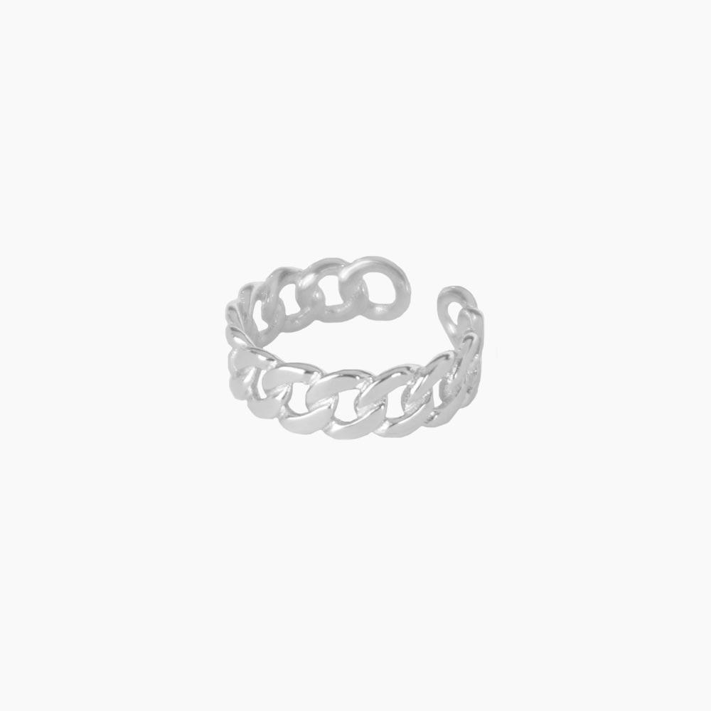 Lush-Chain-Ring-Silver