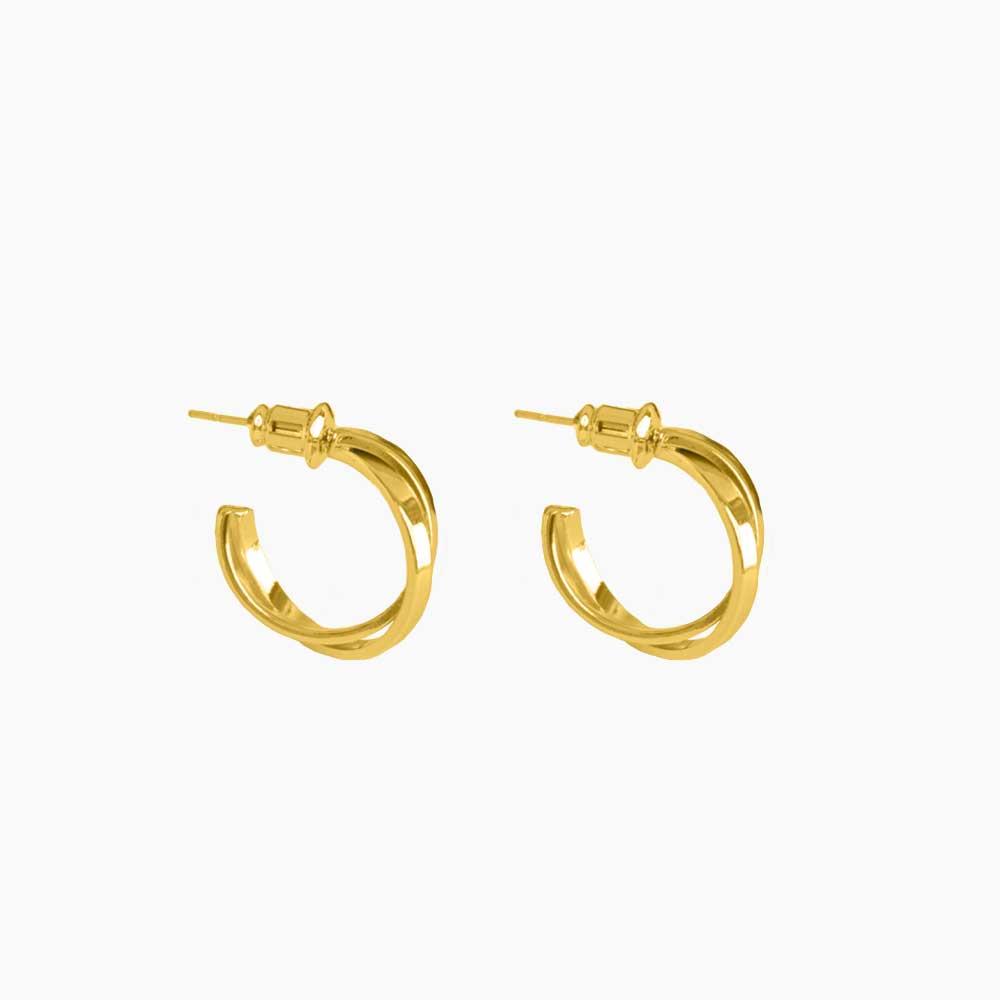 Single Crossed Hoops Earrings