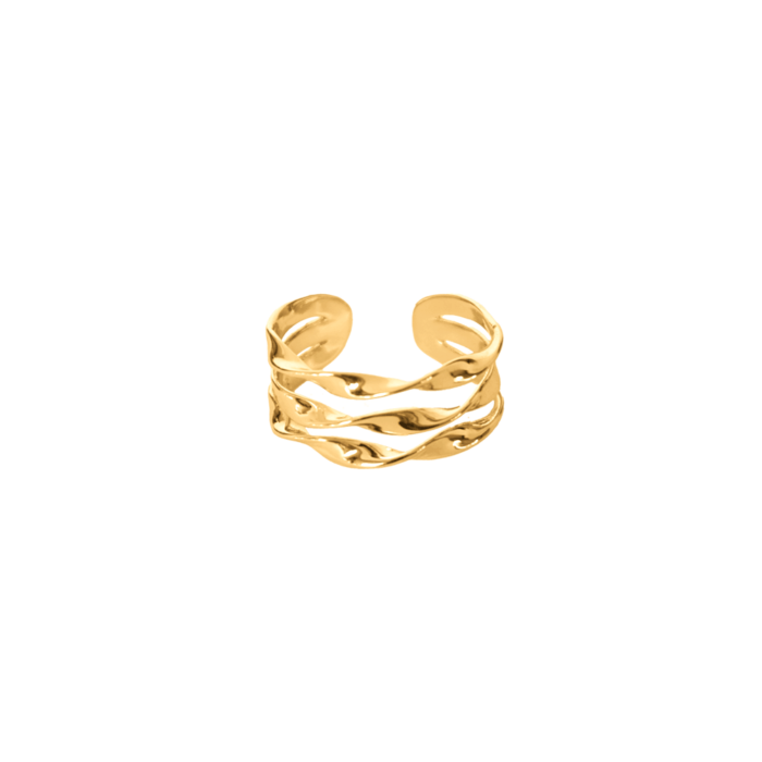 Wave-Ring-Gold