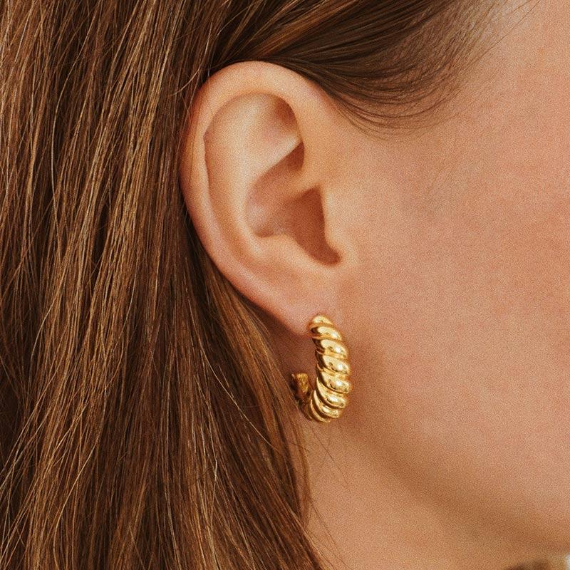 Leon Earrings Gold