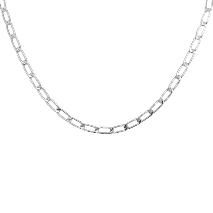 Mini-Paperclip-Necklace-Silver