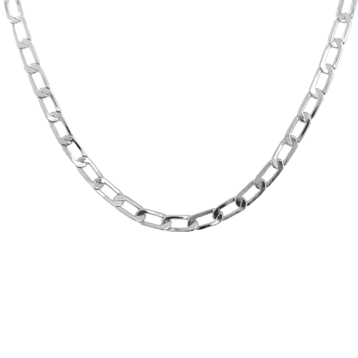 Paperclip-Necklace-Silver