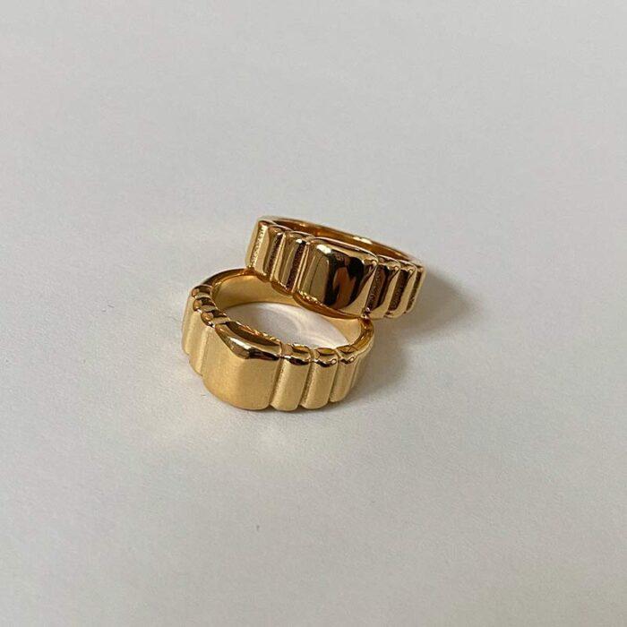 Ribbed-Ring-Gold